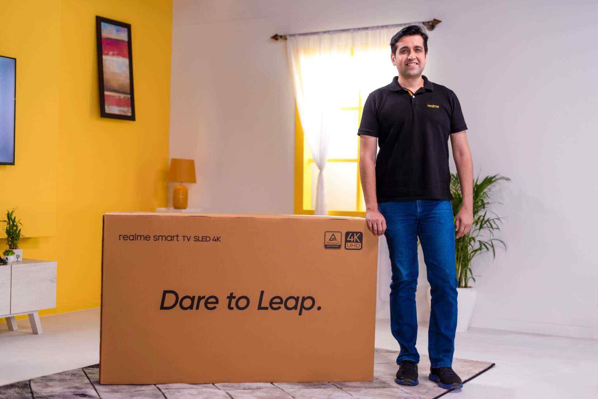 Realme 55-tums SLED 4K SmartTV retad;  Indiens lansering förväntas i oktober