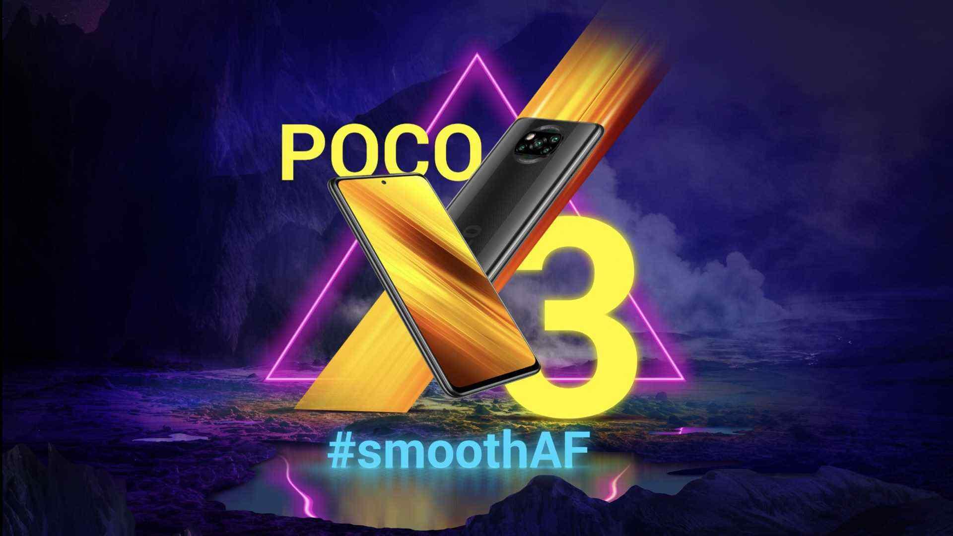 Poco X3 Indian Edition får Snapdragon 732G SoC och 6000 mAh batteri: Indien pris, specifikationer