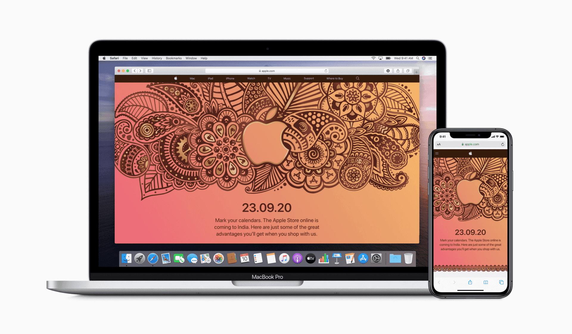 Apple Online Store kommer till Indien den 23 september