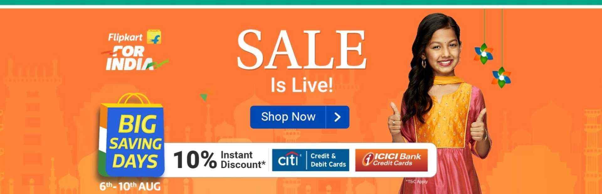 Flipkart Big Saving Days Sale 2020 Live-uppdateringar: bästa erbjudandena på tekniska och rabatterade erbjudanden