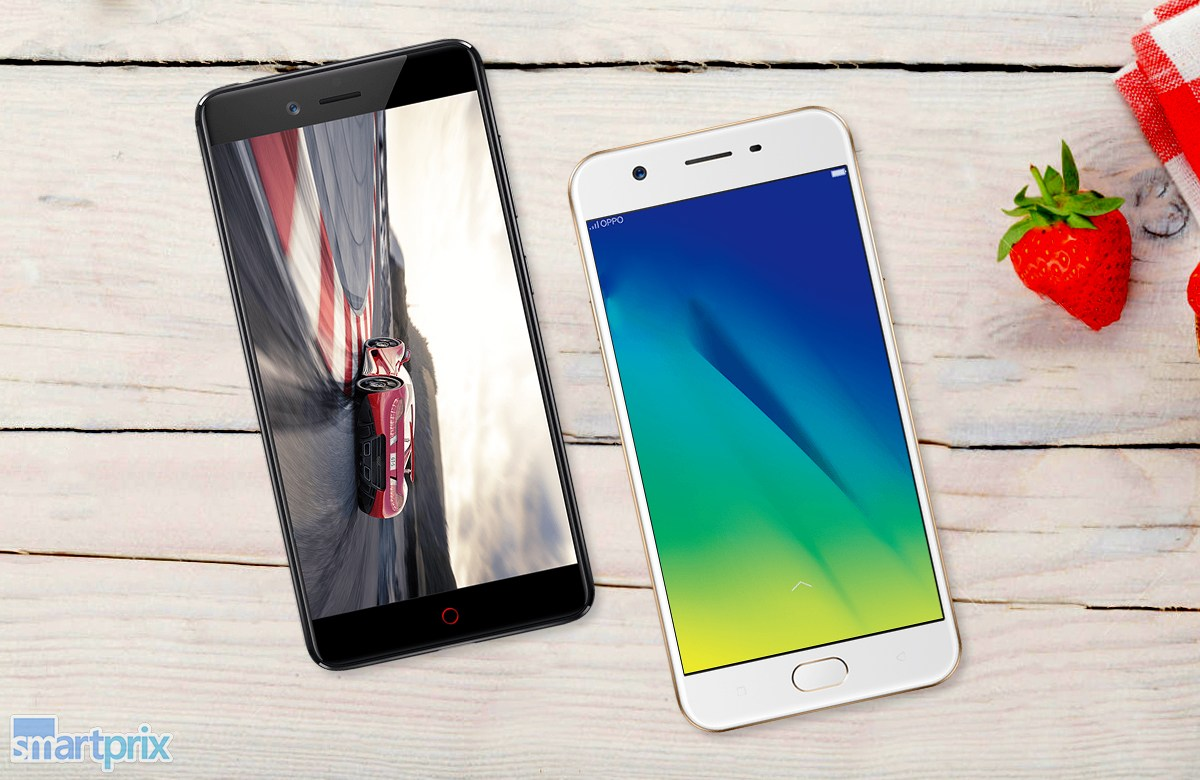 Telefonjämförelse: OPPO F3 VS ZTE Nubia Z17 Mini