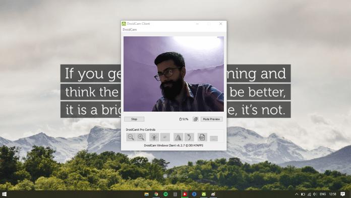 Hur man använder telefonen som en webbkamera för din dator