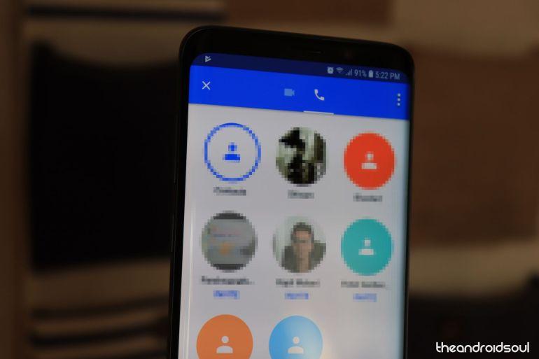 Google Duo-kontaktlista