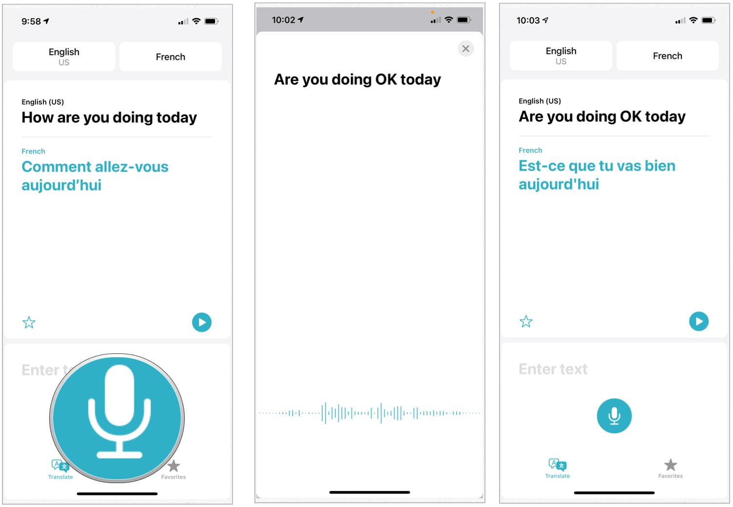 Översättning app konversation