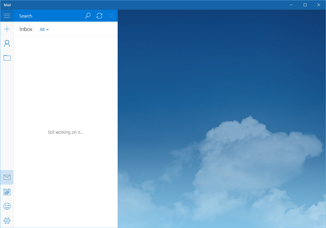Ändra Windows 10 Mail bakgrundsbild eller gör det tomt