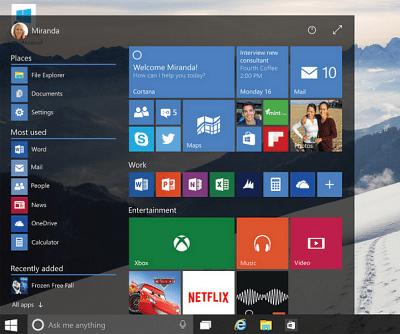 Windows 10 Build 10130 Visuell visning av nya funktioner
