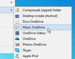 Så här lägger du till OneDrive i Windows Skicka till-menyn