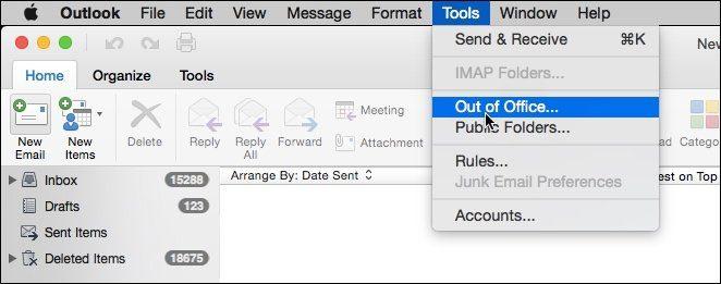Outlook för Mac - Så här aktiverar du Out of Office Assistant