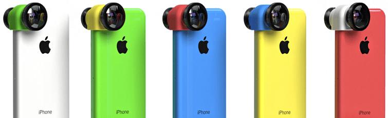 Olloclip linspaket för iPhone 5c anländer nästa månad i flera färger