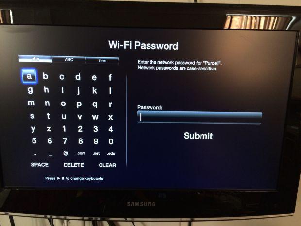 Apple TV wifi-lösenord