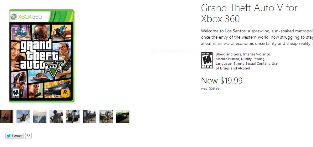 Skaffa GTA 5 för 20 USD från Microsoft