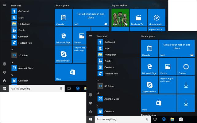 Kom igång med den nya startmenyn i Windows 10-årsdagen