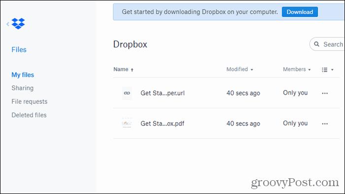 Dropbox för Chrome