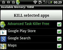 Död enkelt körande bakgrundsappar i Android med Advanced Task Killer