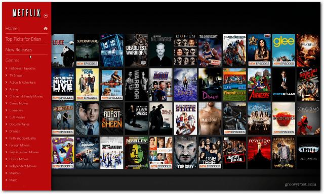 Nya lanseringar Windows 8 Netflix