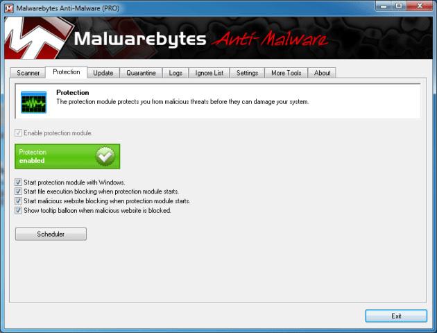 MBAM-skydd mot skadlig programvara i realtid