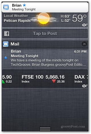 VIP-meddelande iOS 6