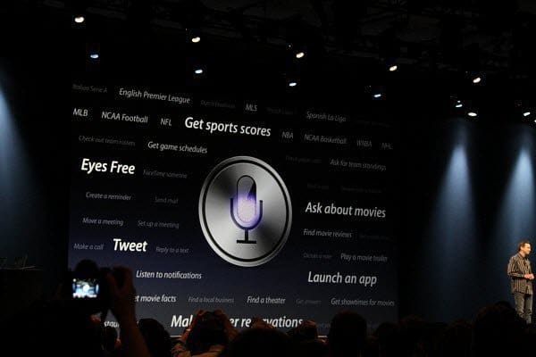 Tillkännagivande från Apple Keynote Siri