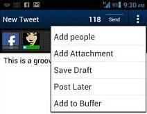 Tweetcaster för Android uppdaterad, ger buffertintegration