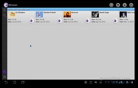 BitTorrent Beta Android presenterade innehåll