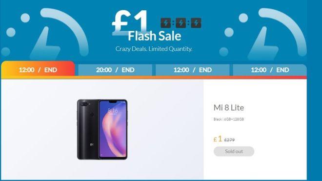 xiaomi uk flash-försäljning