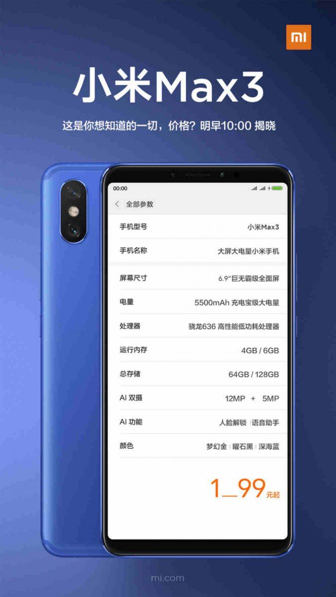 xiaomi-mi-max-3-teaser-prisspecifikationer