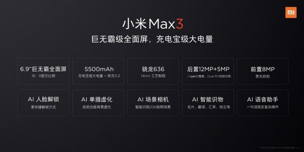 xiaomi-mi-max-3-lin-bin-weibo-datablad
