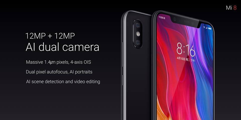 Xiaomi Mi 8 dubbelkamera