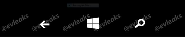 En sammanhängande skärmdump av Windows Phone: s programvarubaserade maskinvaruknappbyten.
