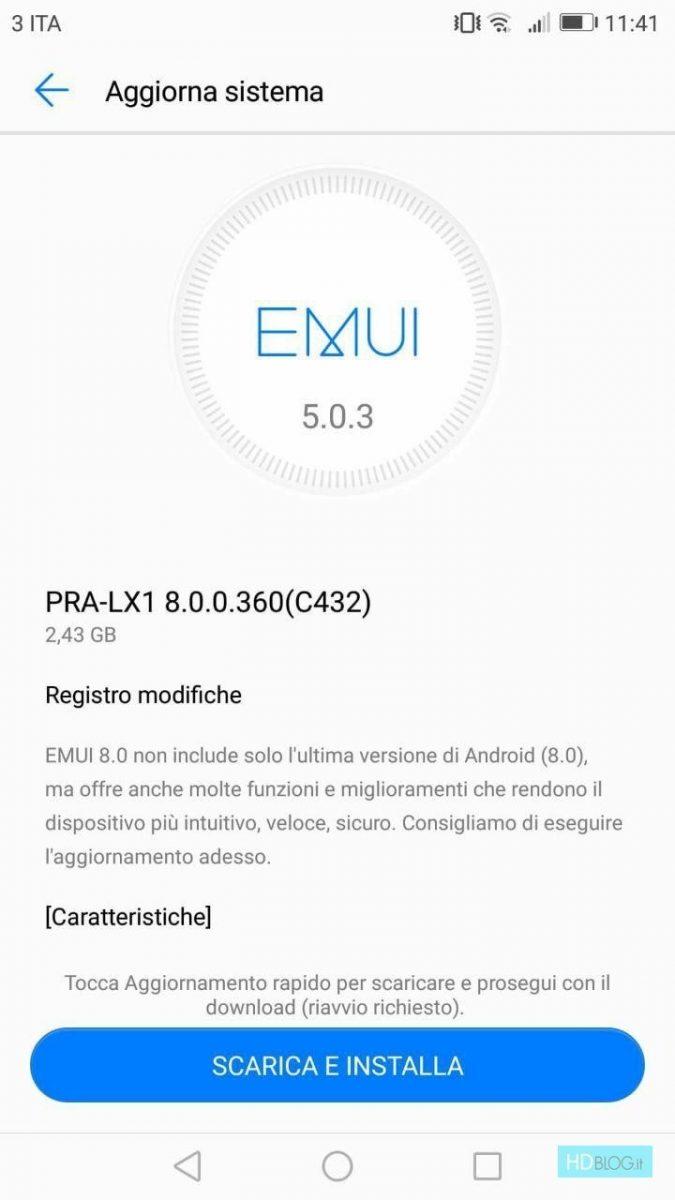 huawei p8 lite 2017 inget märke android oreo 1