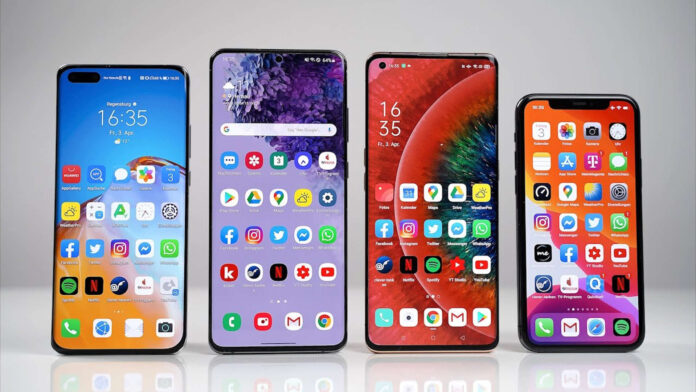 huawei p40 pro + samsung galaxy s20 ultra iphone 11 pro max