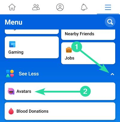 Var är alternativet Facebook Avatar