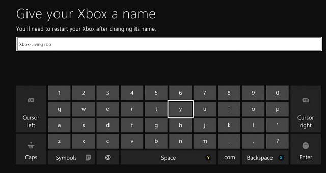 byta namn på xbox one