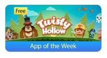 twisty hollow - apple app of the week