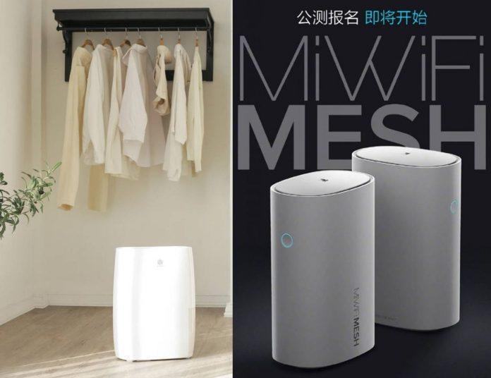 Xiaomi lanserar en avfuktare och den första Mesh Wi-Fi-routern