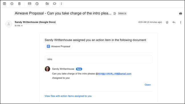 Kommentar tilldelad e -postavisering