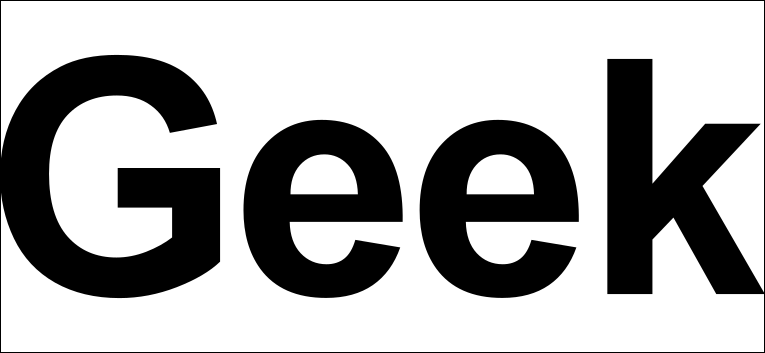Sans serif -teckensnitt.